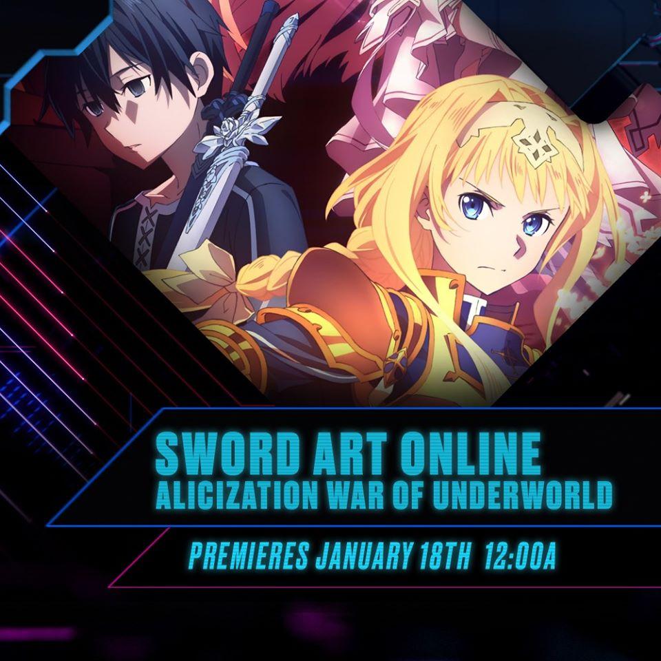 Sword Art Online Alicization continues January 18 with War of Underworld   Toonami Faithful